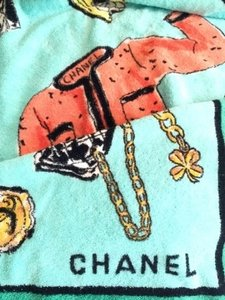 Chanel Rare Vintage Chanel No.5 Oversized Beach Towel