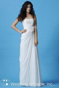 Eden White Sl026 Destination Wedding Dress Size 18 (XL, Plus 0x)
