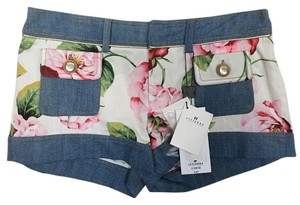 Dolce&Gabbana Short Cotton Denim Mini/Short Shorts Floral