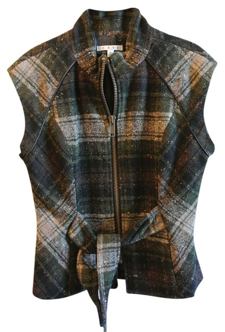 Item - Green and Gray Vest Size 10 (M)