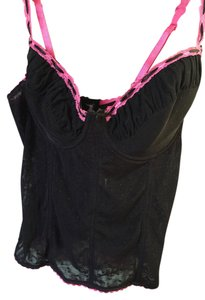 Hot Topic Lace Corset Top black and pink