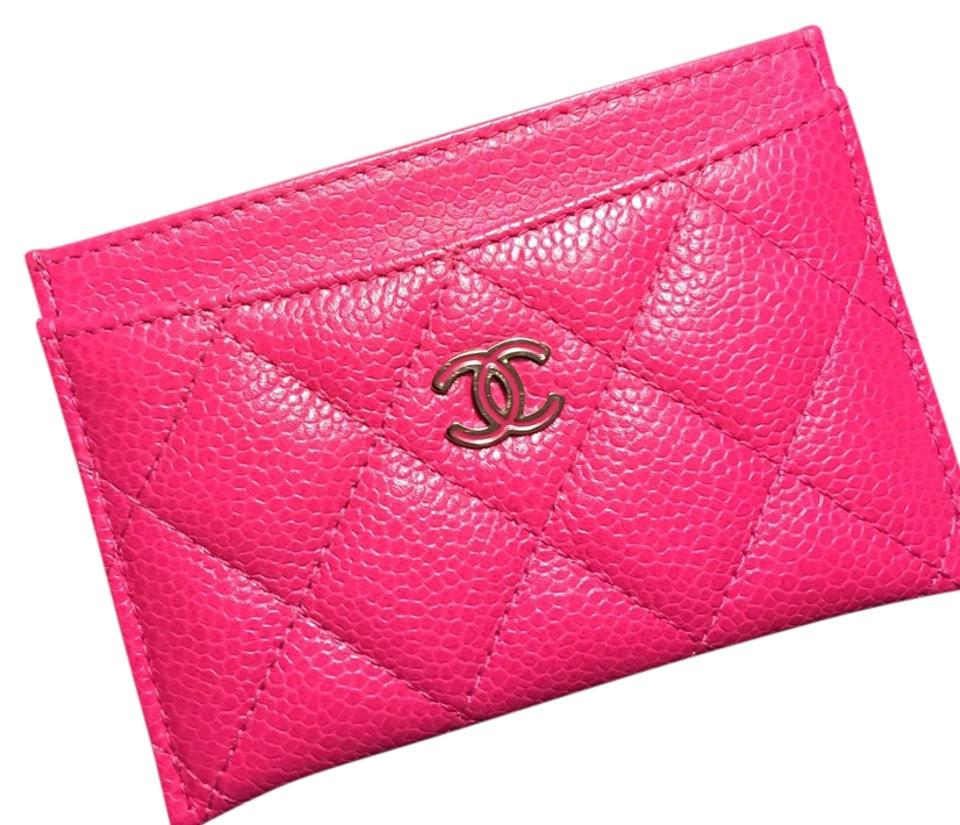 0d0c8557b4ba Chanel Chanel Caviar Card Holder Silver Hardware Wallet Leather Image 0 ...