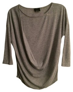 Lumiere Draped Front 3/4 Sleeve Drop Sweater