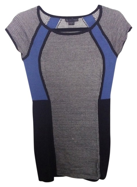 Preload https://item2.tradesy.com/images/armani-exchange-colorblock-tunic-black-white-blue-1259001-0-0.jpg?width=400&height=650
