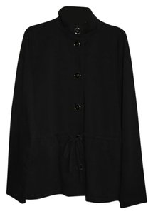 Liz Claiborne Painted Sky Active Jacket Button Down Longsleeve Black Blazer