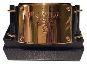 Prada 100% Authentic Prada Bracelet Bangle with Gold Hardware
