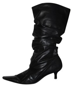 Enzo Angiolini Slouchy Pointed Toe Mid Calf Black Boots