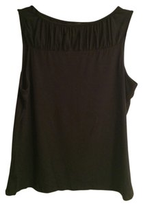 Banana Republic Gathered Detailing Top black