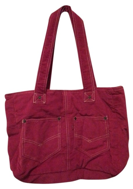 Item - Red Corduroy Tote