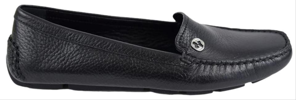 09440fd9240 Gucci Black 338857 Women s Leather Driving Moccasin Flats Size US ...