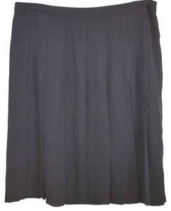 Worthington Pleated Skirt BLACK