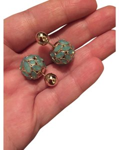 Dior Dior Mise En Tribal Jade Earrings