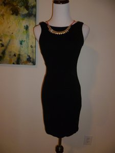 Zara Little Lbd Trafulac Sheath Mesh Side Cut-out Panel Dress