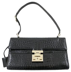 Gucci Vintage Glossy Alligator Clochette Shoulder Bag