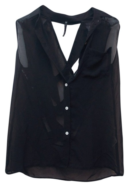 Preload https://img-static.tradesy.com/item/1259234/love-culture-black-crossopen-chiffon-blouse-night-out-top-size-4-s-0-0-650-650.jpg