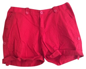 dELiA*s Cuffed Shorts Red