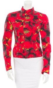 Dolce&Gabbana Denim Multicolor Red, Black Womens Jean Jacket