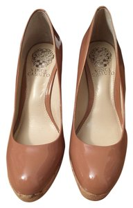 Vince Camuto Leather Rosewood Wedges