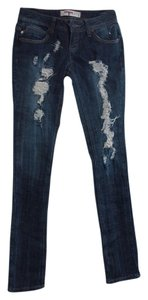 T Five Distressed Embellished Skinny Jeans-Distressed