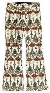 Alice + Olivia Belle Epoque Pattern Trouser/Wide Leg Jeans