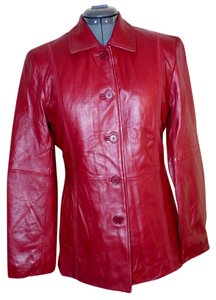 Excelled Collection red Leather Jacket