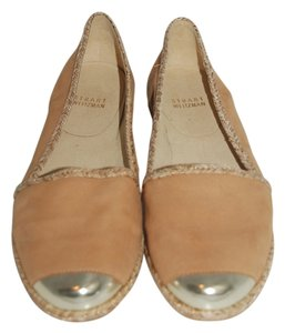 Stuart Weitzman Leather Lining Leather Insole honey tan Flats
