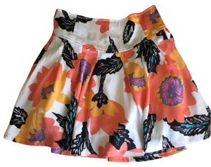 Free People Mini Skirt Flower