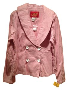 Live A Little Pink/ White with Silver Lurex in between Jacket