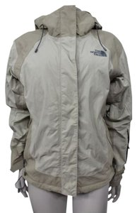 The North Face Women Tan Removable Hoodie Jacket Coat