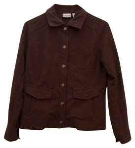 Chico's Lightweight Button Brown Jacket