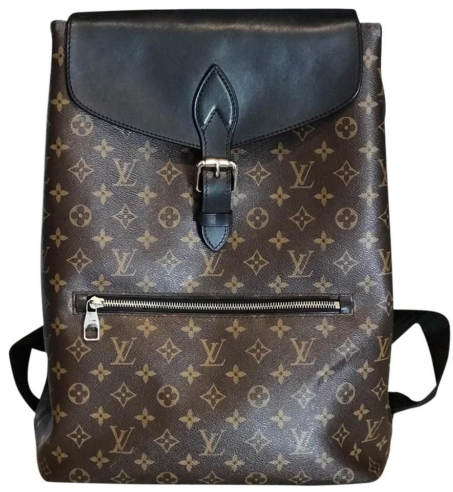 4bb50baac9b3 Louis Vuitton Palk M40637 Brown Black Leather Backpack - Tradesy