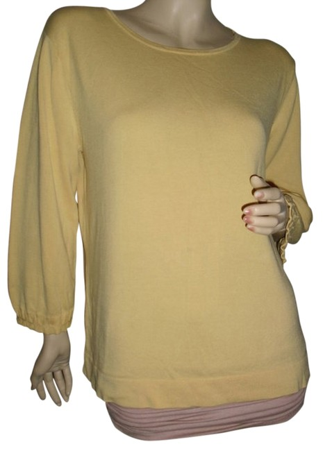 Item - Yellow Smock Long Sleeves @ Fashionista Style Boutique Blouse Size 10 (M)