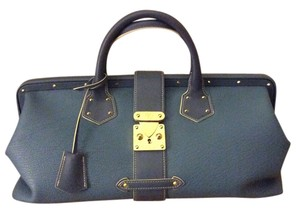 Louis Vuitton Suhali Rare Goatskin Blue L'ingenieux Satchel in Bleu