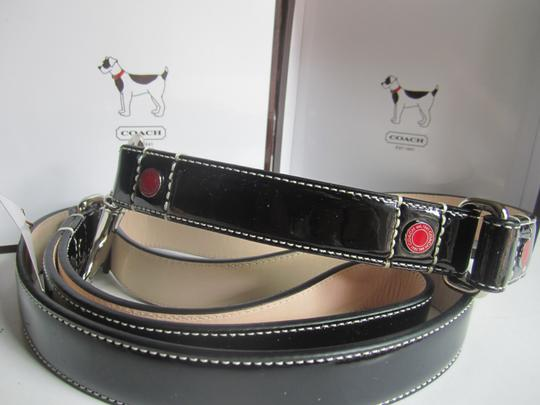 Coach Coach Dog Leash ( FAST SHIPPING!) Patent Leather Grommets SZ Large NEW!