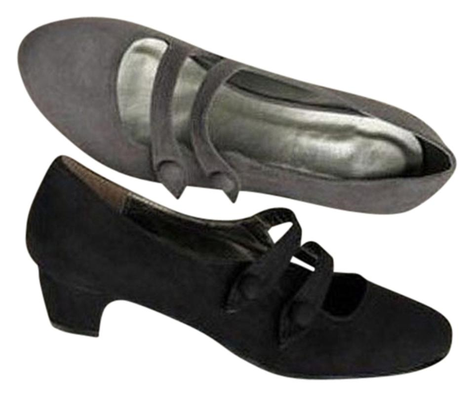 79d44342c2 Ulla Popken Black Two-strap Mary Janes Pumps Size US 10 Extra Wide ...
