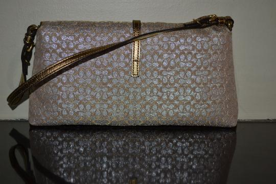 Coach Gold Metallic Clutch