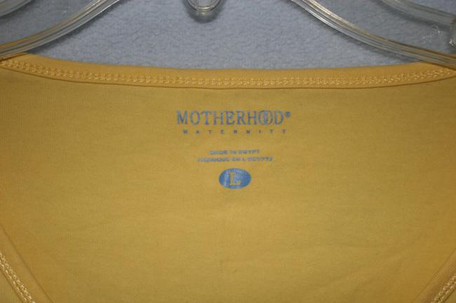 Motherhood Maternity L/S Yellow Maternity shirt Large