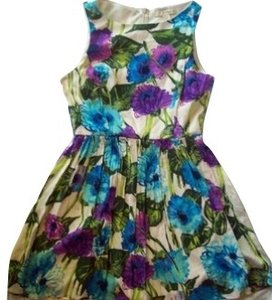 Forever 21 short dress Purple and green floral on Tradesy
