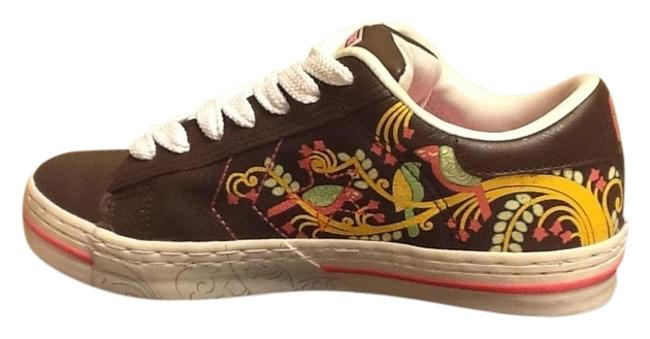 Item - Brown/Multi-colored All Star Sneakers Size US 7.5