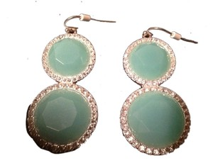 Avon Teal Diamond earrings