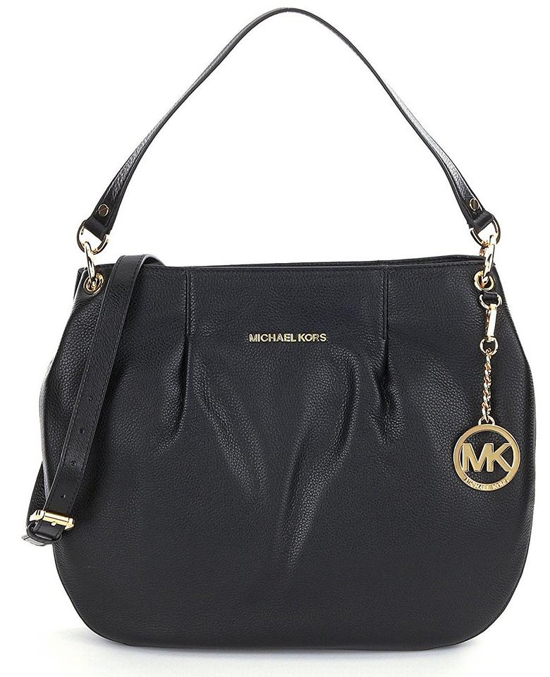 Michael Kors Bedford Leather Large Convertible Crossbody Handbag Shoulder Bag
