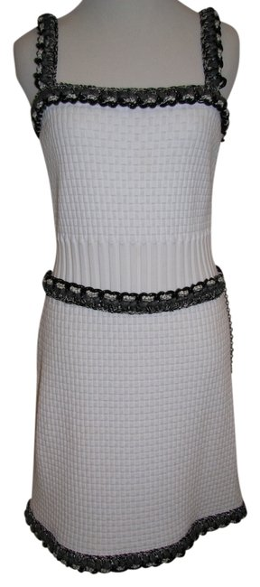 Chanel Braided Chain Knit Metallic Hardware Dress