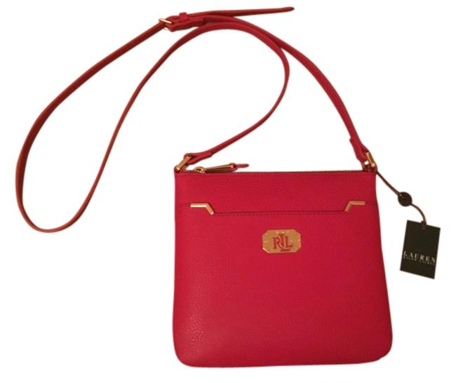 Item - Acadia Red Faux Leather Cross Body Bag