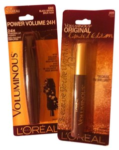 L'Oréal LOREAL Brand New 2-Peice Mascara-#1 Voluminous 24 Power Volume-Lasts 24 Hours-Black #2-Voluminous Original