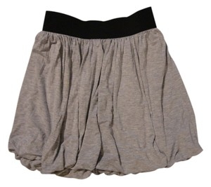 Forever 21 Grey Elastic Mini Skirt Grey, Black