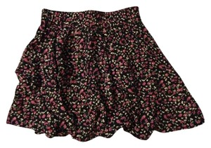 Forever 21 Mini Floral Mini Skirt Lavender, White, Dark Blue