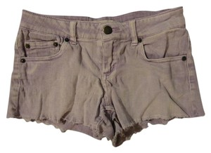 Forever 21 Denim Ripped Mini/Short Shorts Light purple