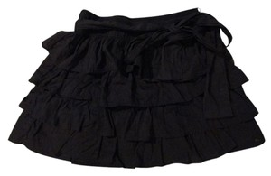 Forever 21 Bow Ruffle Mini Mini Skirt Dark Blue