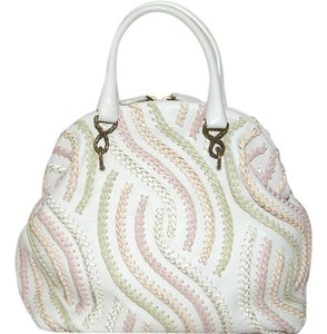 Bottega Veneta Hobo Cream Multi-color Leather Satchel in Beige and colorful swirl