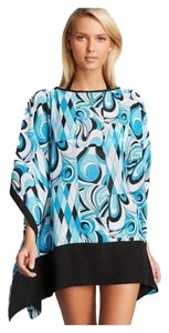 Michael Kors Blue Caprese Cover Up Caftan